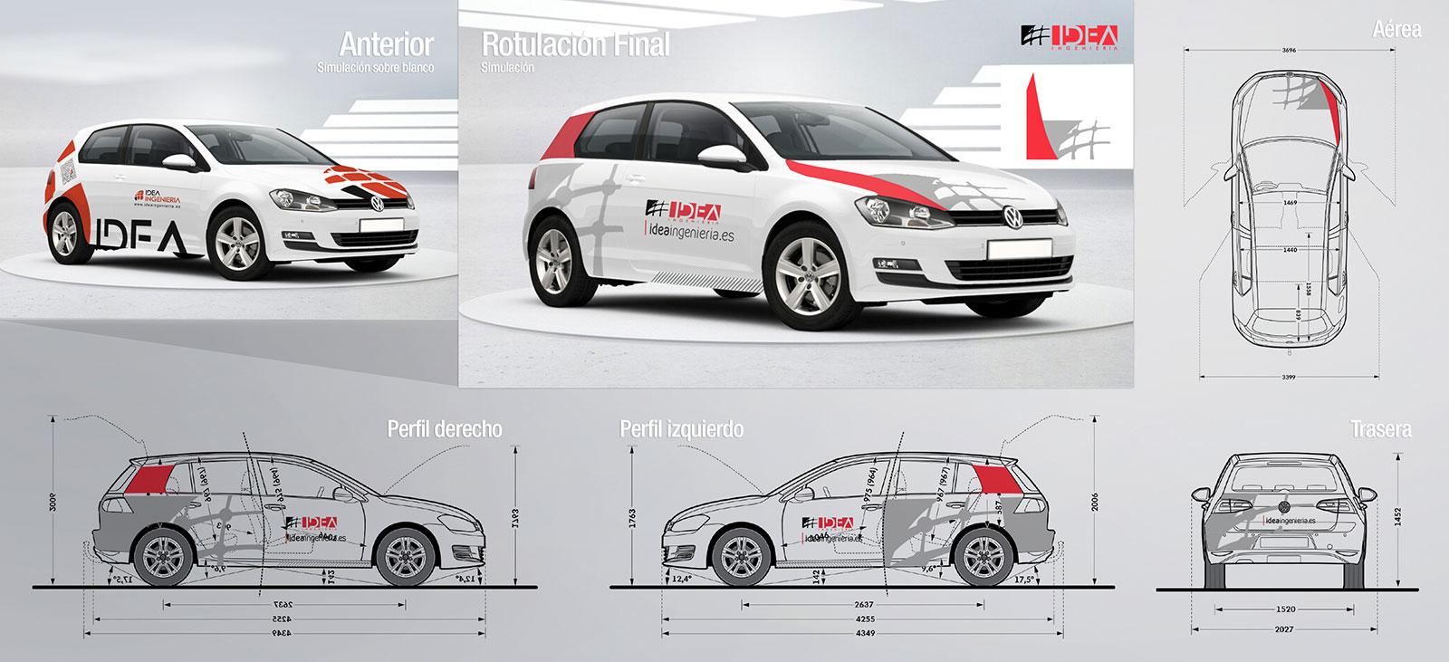 Diseño de rotulación de vehículos | rotulacion de vehiculos | Brande ...