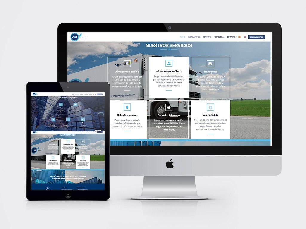 diseño web empresa logística y transporte