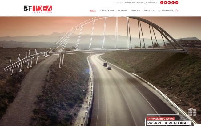 Diseño página web Idea Ingeniería