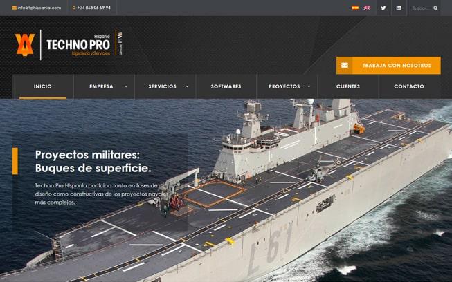 Diseño página web Technopro