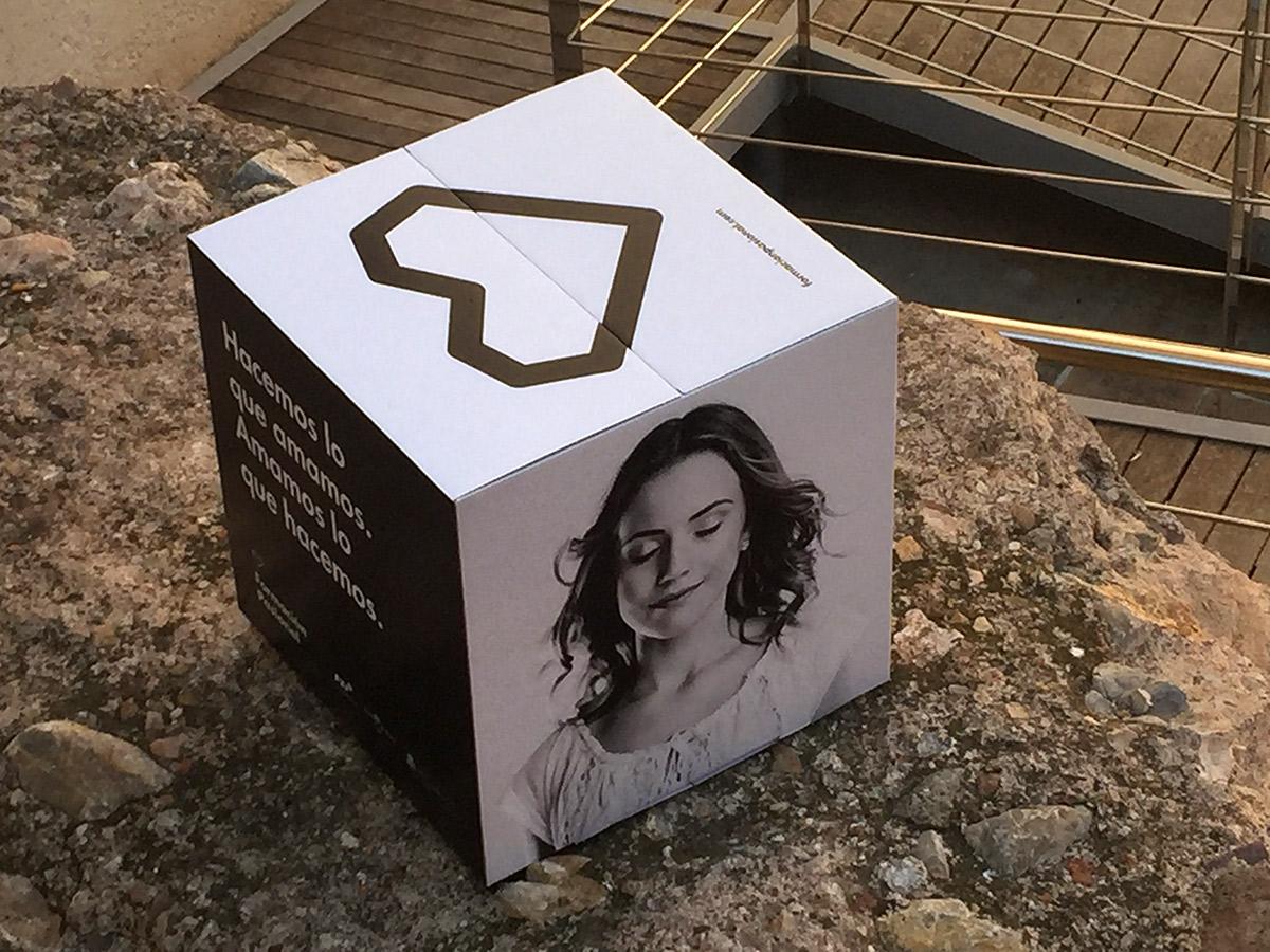 Cubo Cartón desmontable