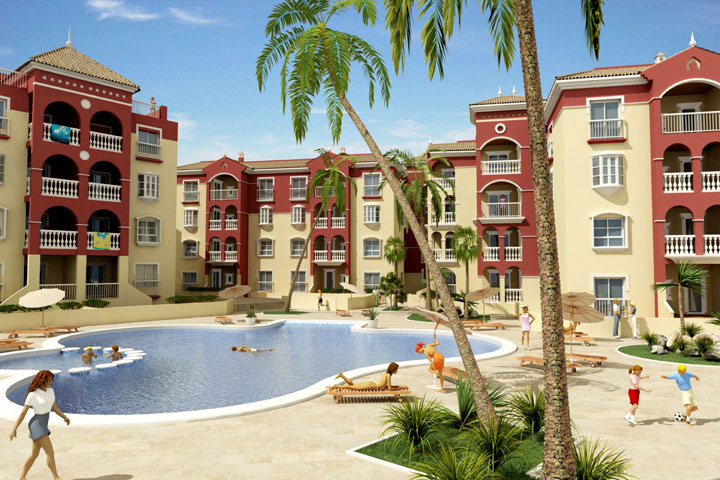 nfografía 3D Urbanización de Playa - Brande Comunicación 01