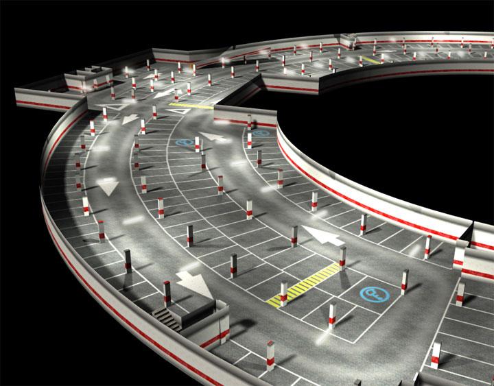 Interior Volumétrico Parking - Brande Comunicación 01