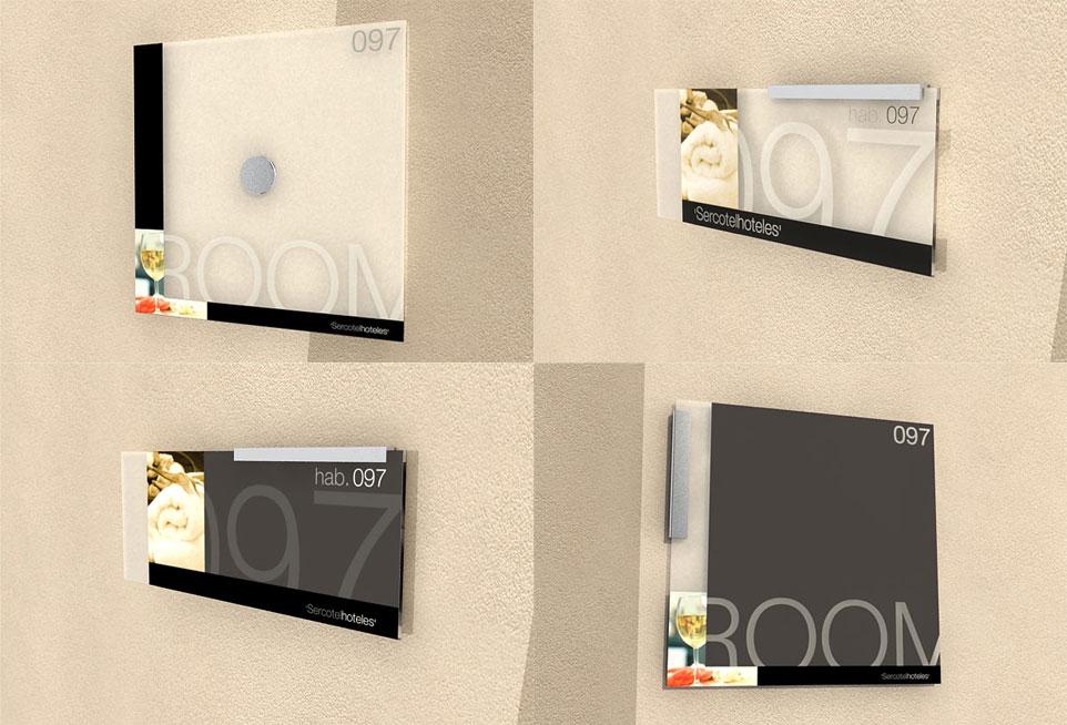 Placas señalética - Sercotel Hoteles - Brande Comunicación 01