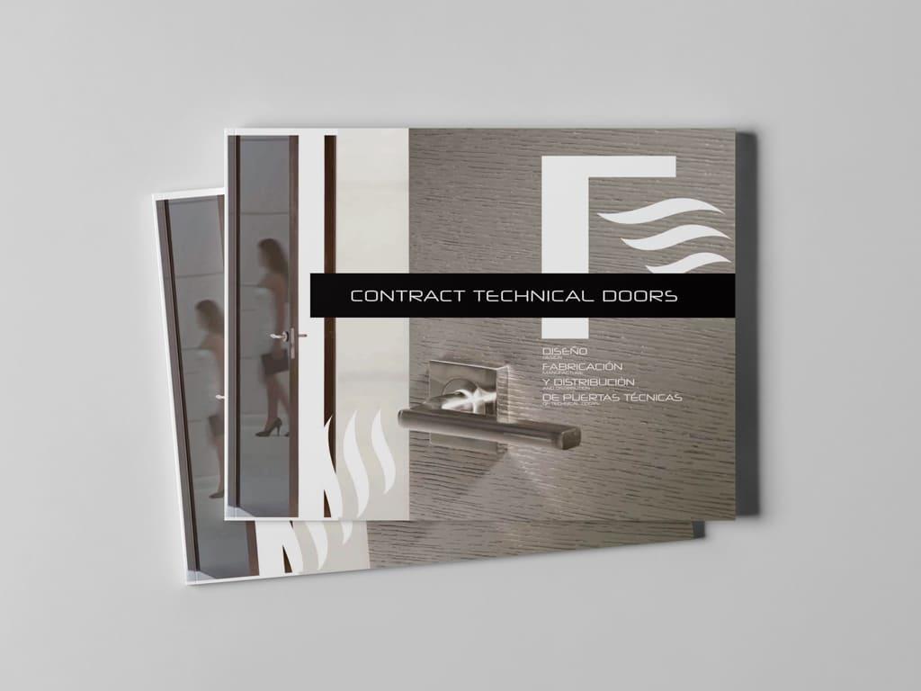 Diseño catálogo corporativo Contract Int - Brande Comunicación