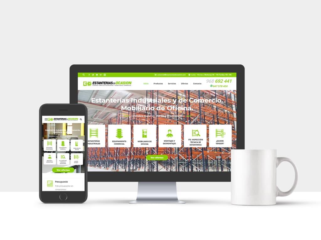 Diseño web corporativa Estanterías Lorquí