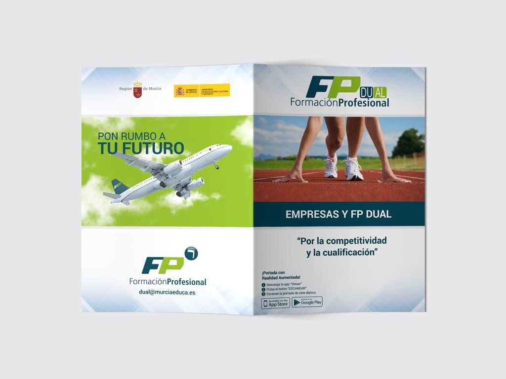 Diseño díptico Formación Profesional - Murcia Educa - Brande Comunicación