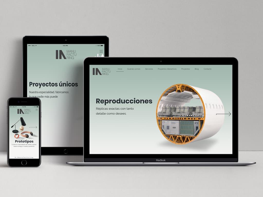Diseño página web IA Manufacturing - Impresión 3D Murcia