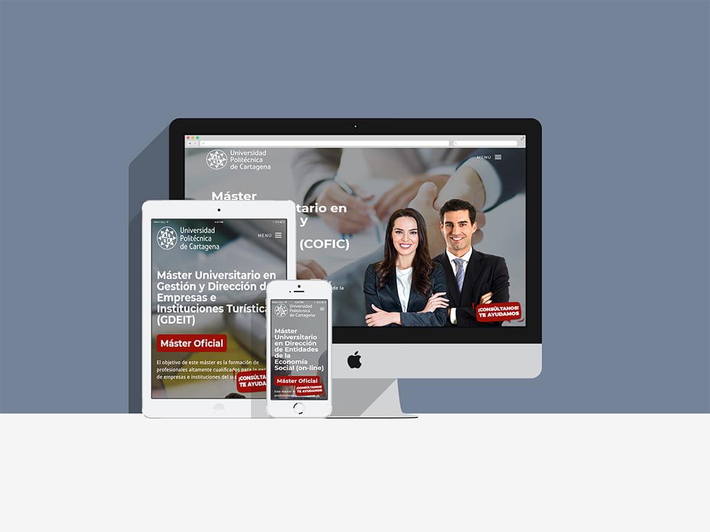 Diseño Landing page campaña upct - Brande Comunicación