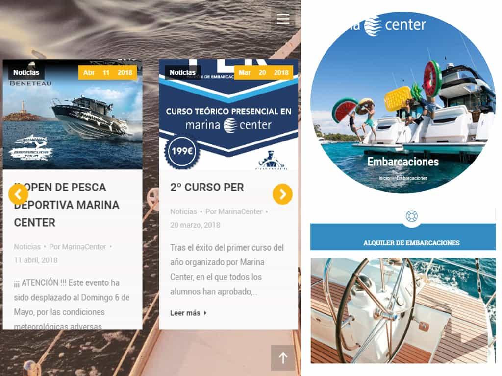Diseño web Marina Center - La Manga (Cartagena)