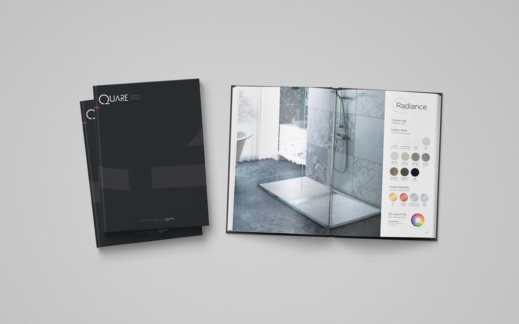 Diseño catálogo productos y servicios Quare Design -Brande Comunicación