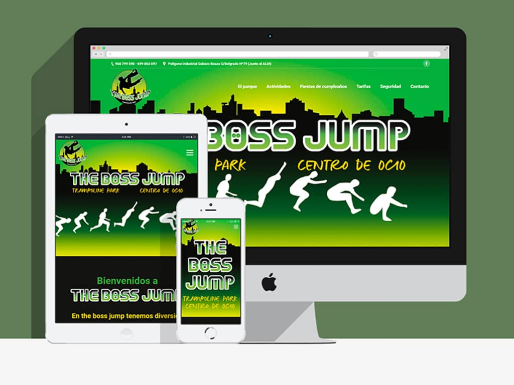 Diseño página web responsive Jump Cartagena (Murcia) - Brande Comunicación