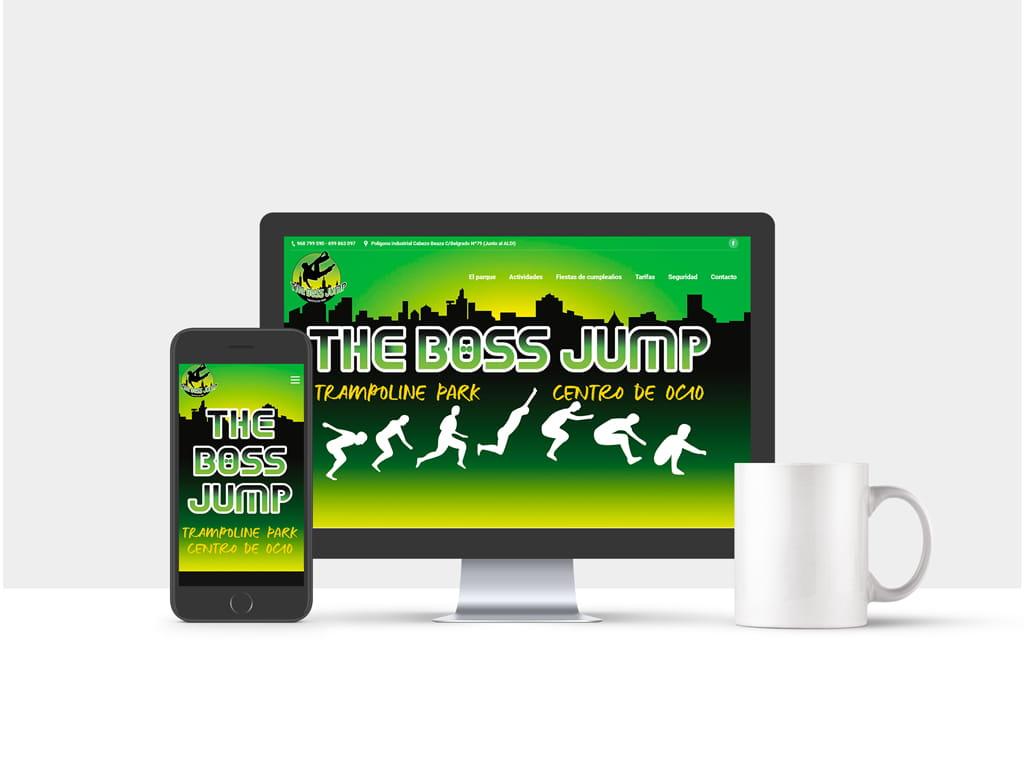 Diseño página web presencial TheBossJump - Brande Comunicación