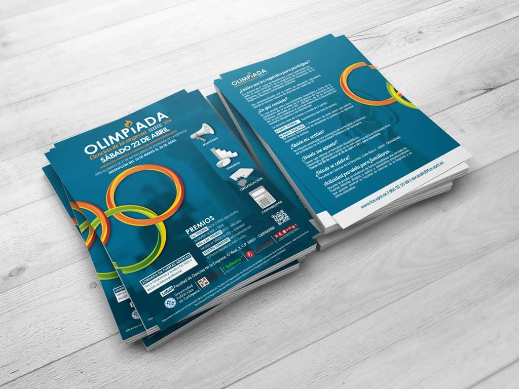 Diseño Flyers UPCT Cartagena Olimpiadas - Brande Comunicación