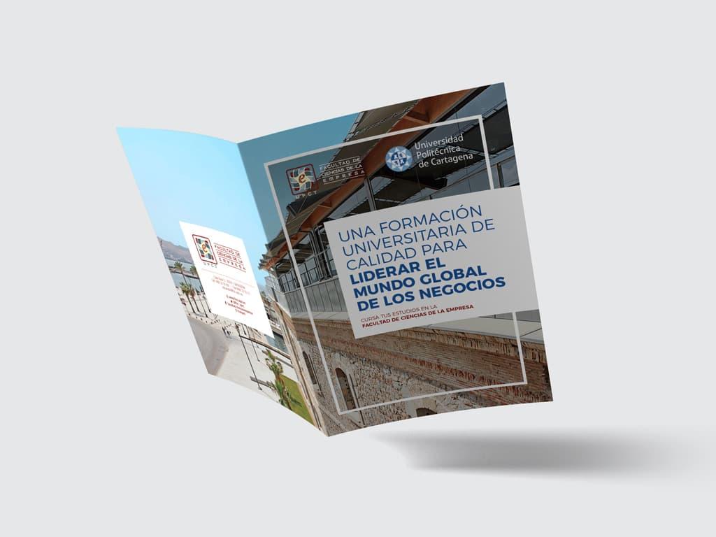 Diseño díptico Universidad Politécnica de Cartagena