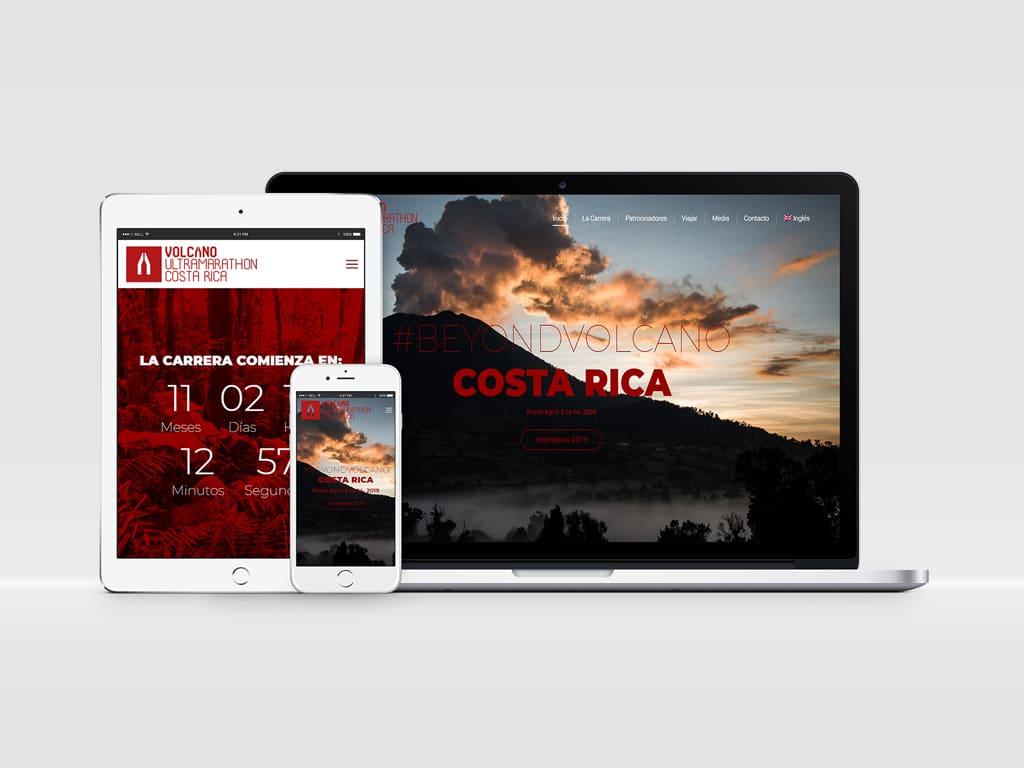 Diseño página web Volcano Ultra Marathon - Costa Rica