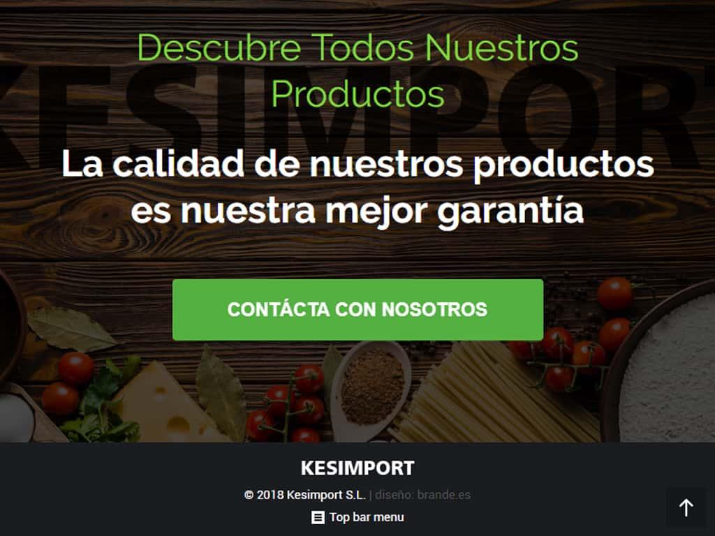 Kesimport (Cabezo de Torres - Murcia) diseño web corporativa - Brande Comunicación