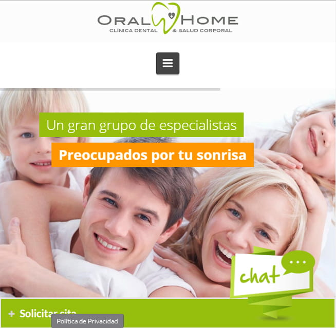 Oral Home web clínica dental - Brande Comunicación 03