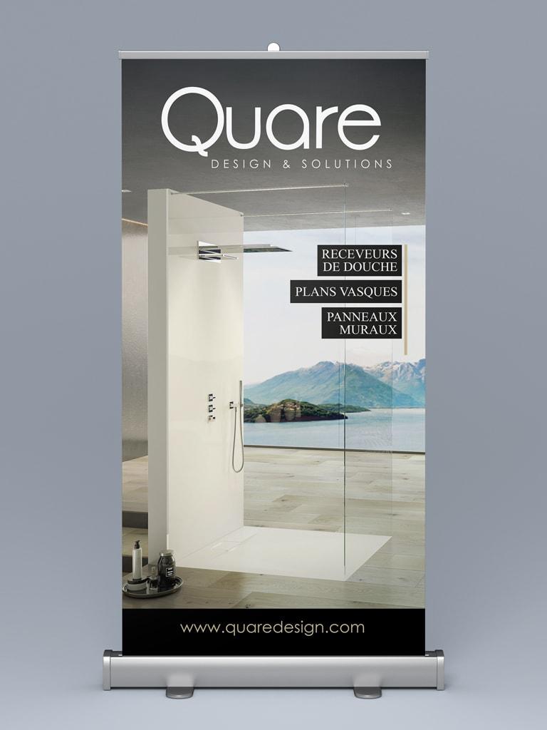 Diseño RollUp Quare Madrid - Brande Comunicación