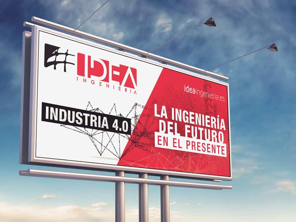 Diseño valla de carretera Madrid - Brande Comunicación