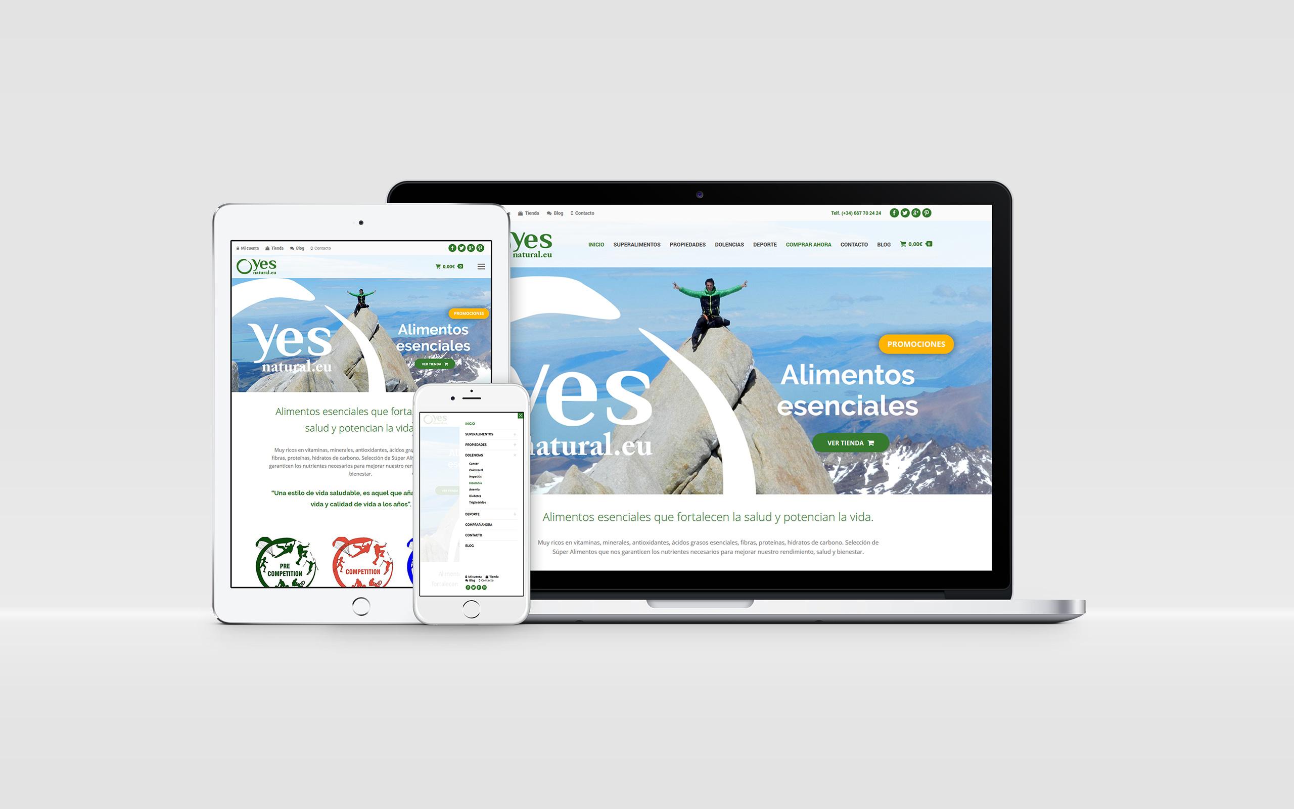 Yes natural web comercio - Brande Comunicación 01