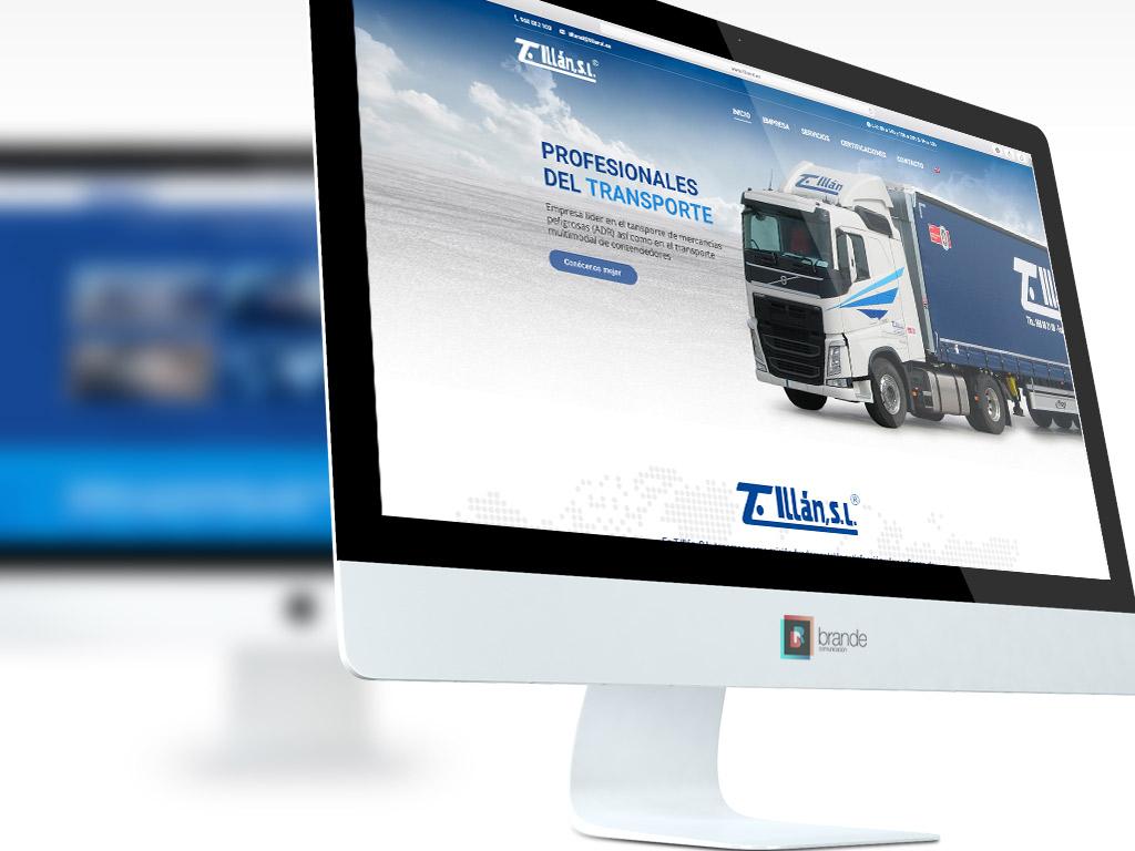 Ejemplo diseño de página web empresa de transportes