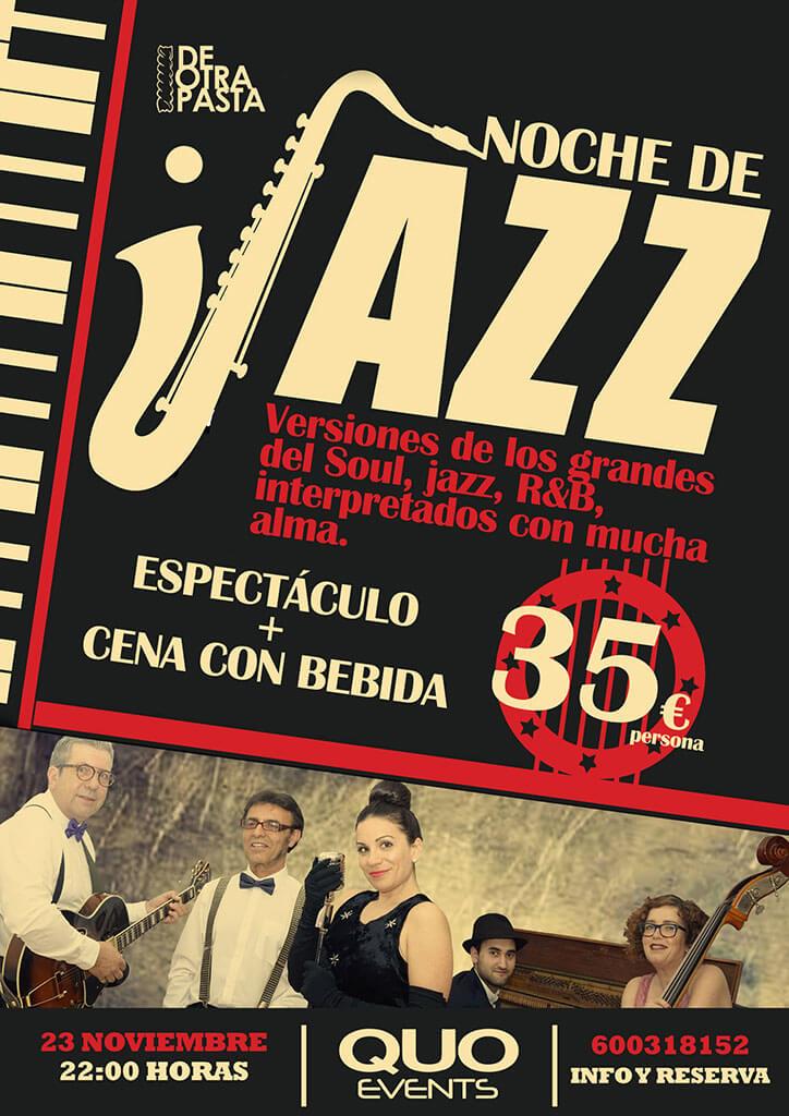 Diseño cartel noche de Jazz