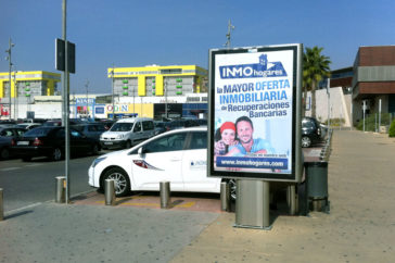Mupis, carteles publicitarios - Soportes publicitarios - Parque mediterraneo