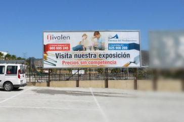 Valla marco, publicidad - Soportes publicitarios - Parque mediterraneo