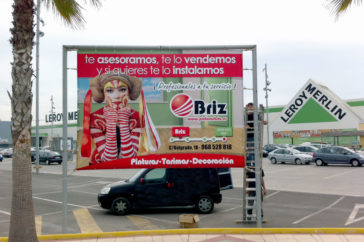Valla, vallas marco - Publicidad exterior - Parque mediterraneo