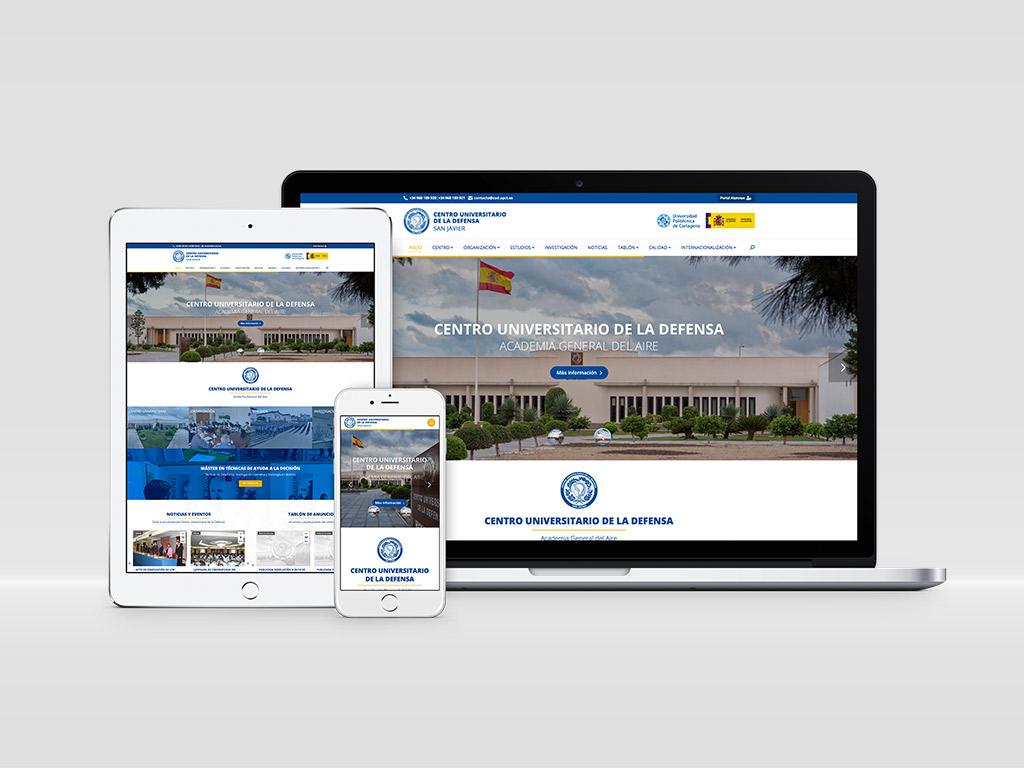 Diseño página web Centro Universitario de la Defensa