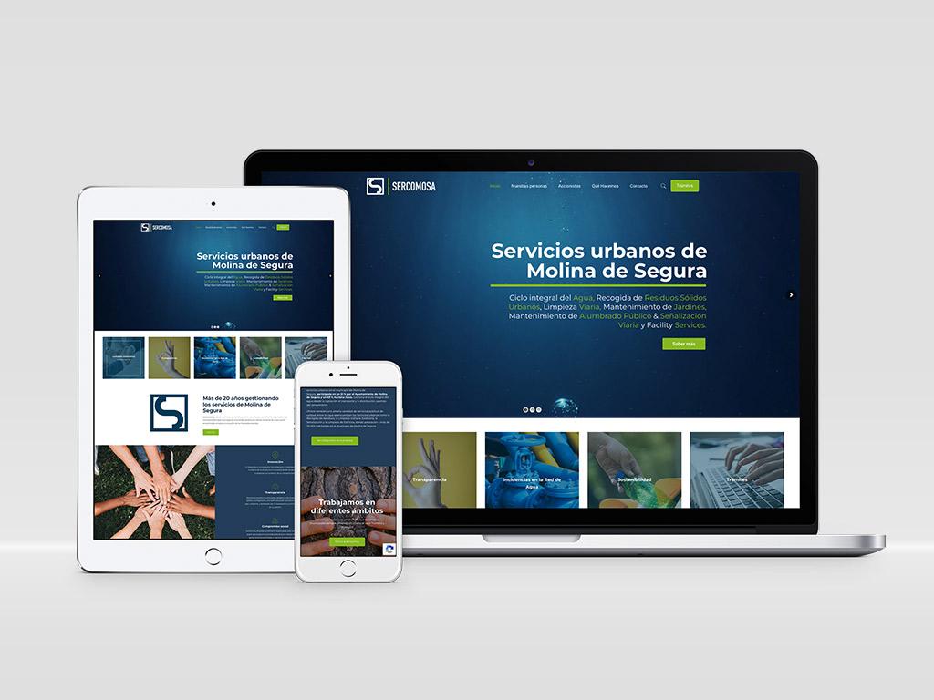 Diseño página web Sercomosa Acciona