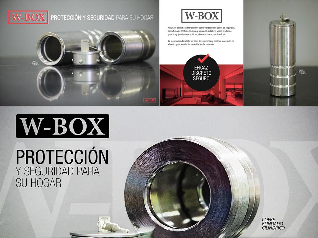 Díptico de producto W-BOX Seguridad