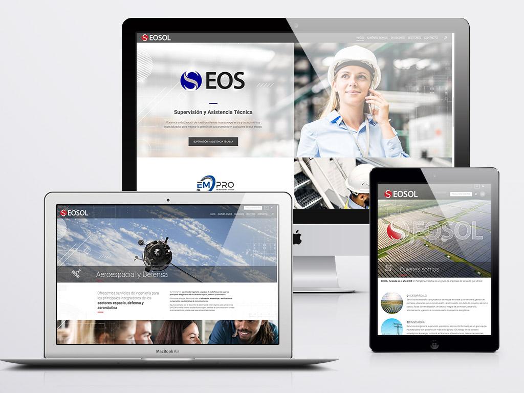 Diseño web ingeniería Grupo Eosol