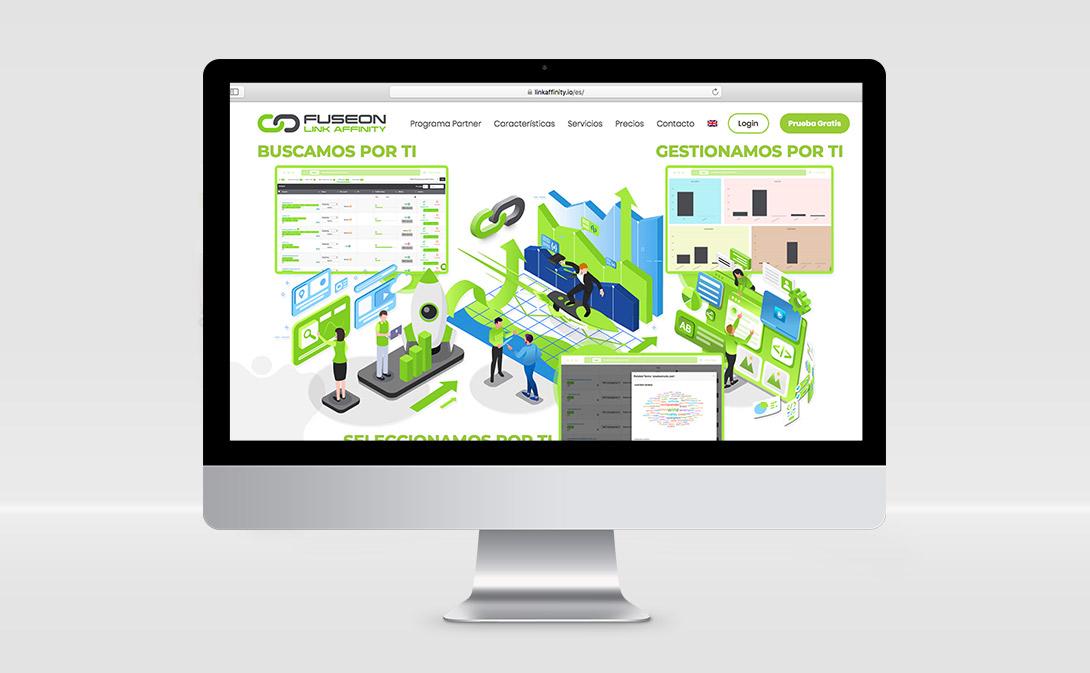 diseño página web link affinity