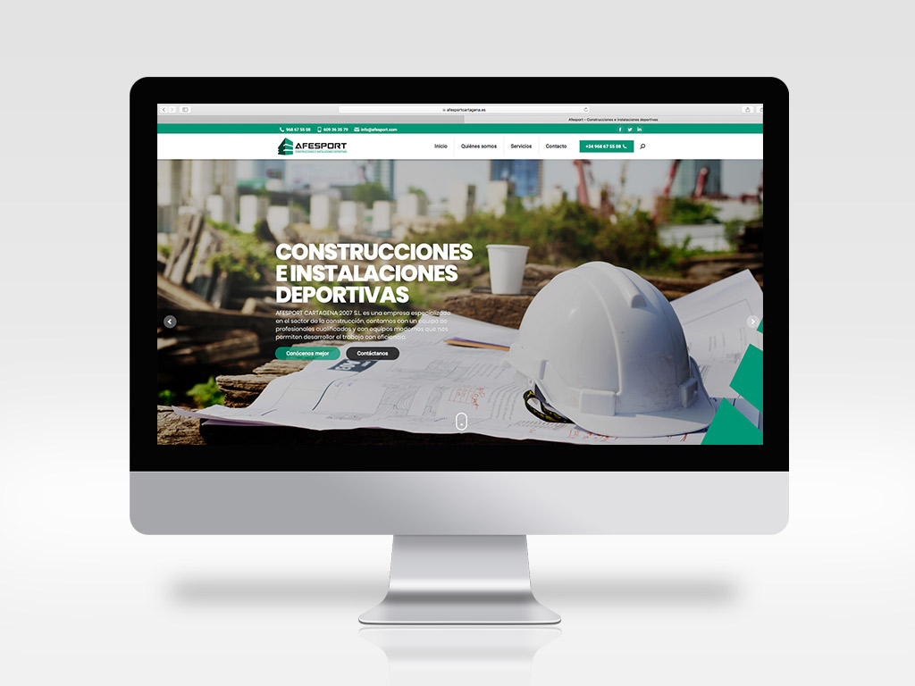 Diseño página web construcción