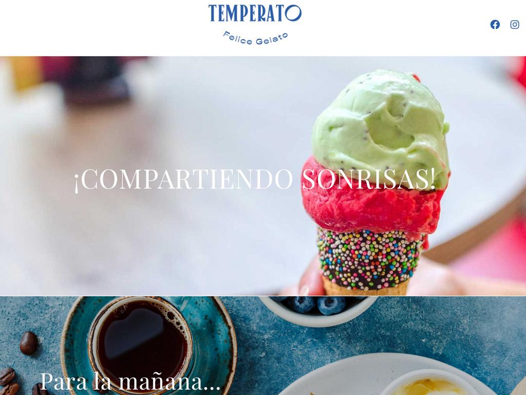 Landing Page profesional heladería