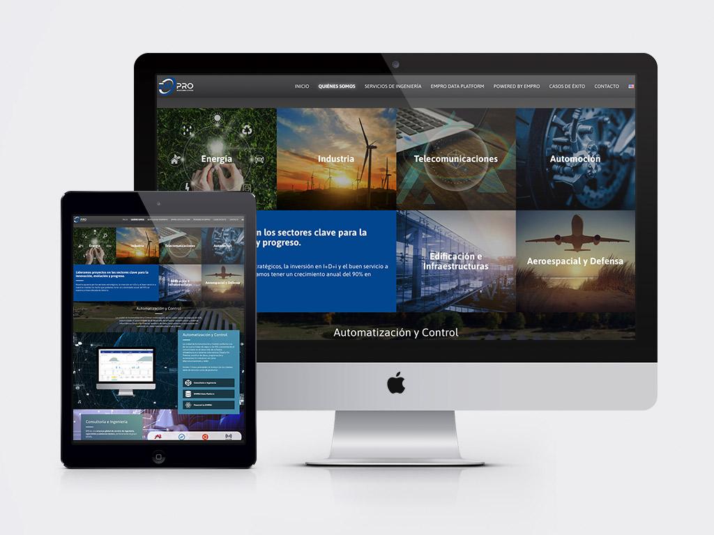 diseño página web ingeniería industrial EMPRO