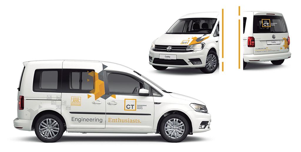 Diseño rotulación furgoneta ingeniería