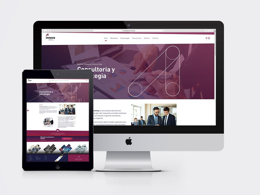 Diseño página web corporativa Innova Premium Consulting
