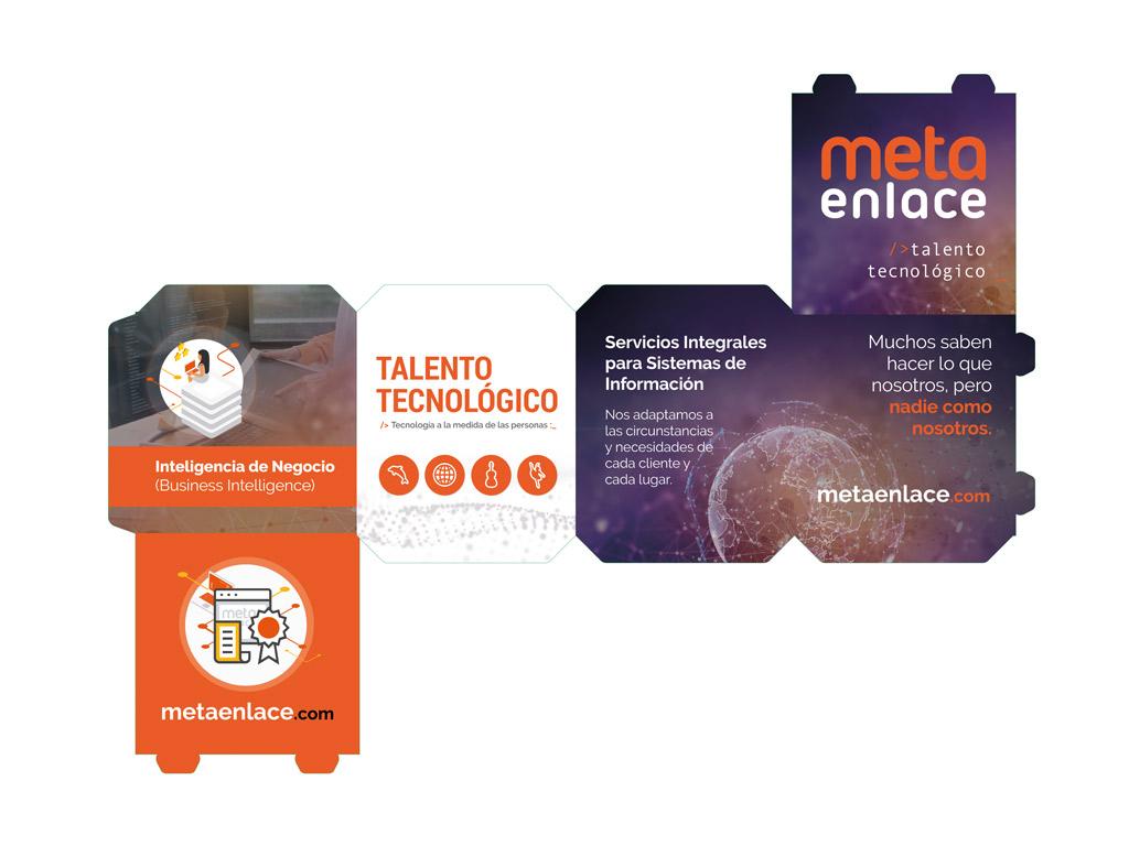 diseño de cubos promocionales para la empresa Metaenlace Sistemas
