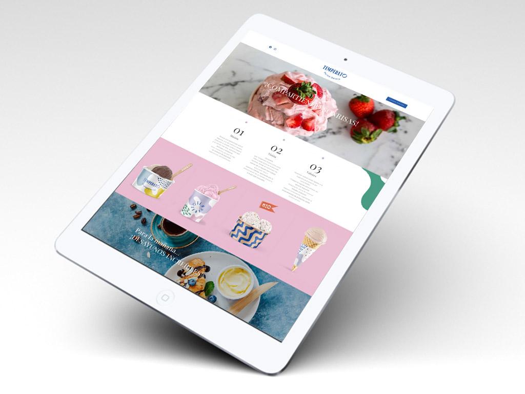 diseño landingpage mini website heladería