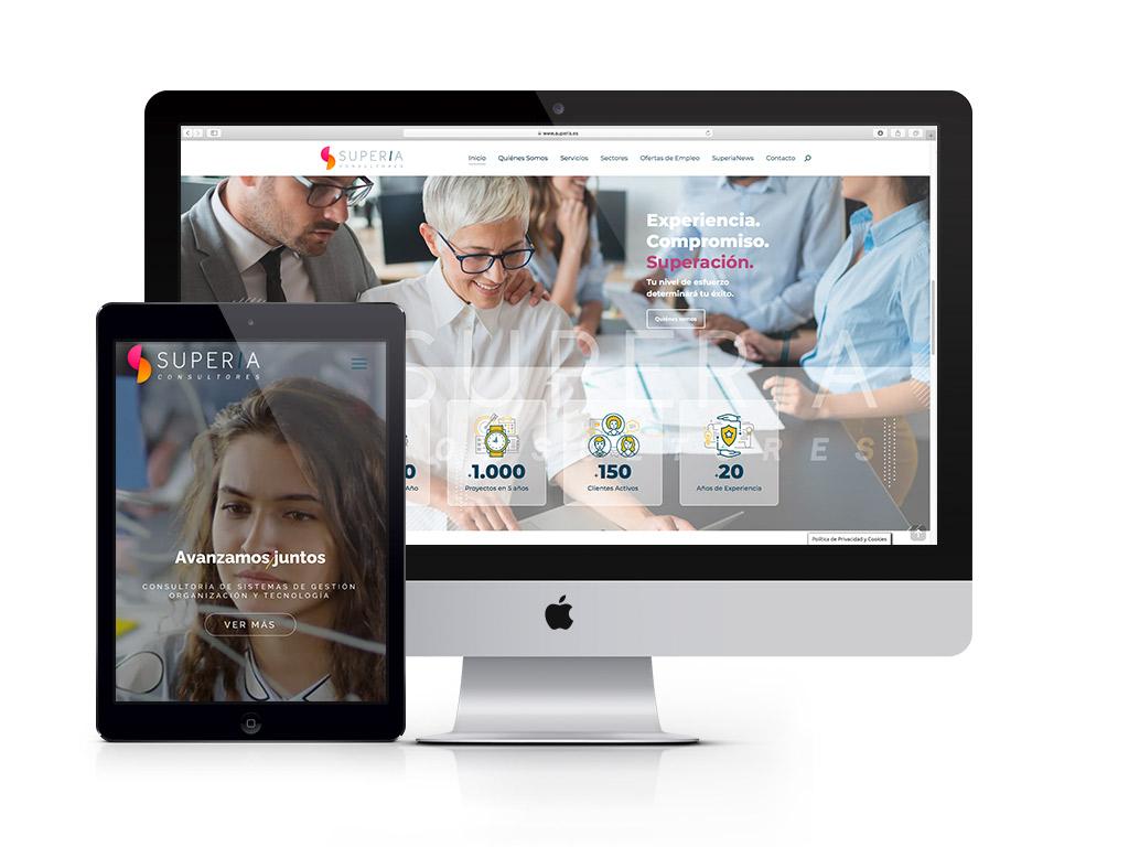 Diseño página web empresa de consultoría Superia