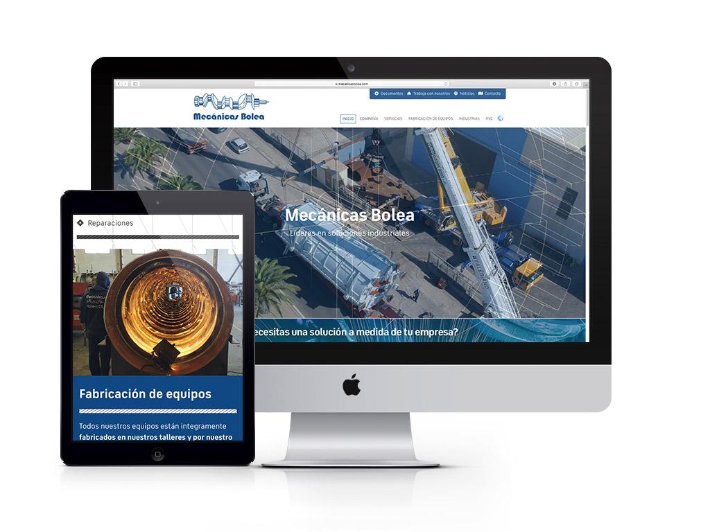 Diseño página web Mecánicas Bolea