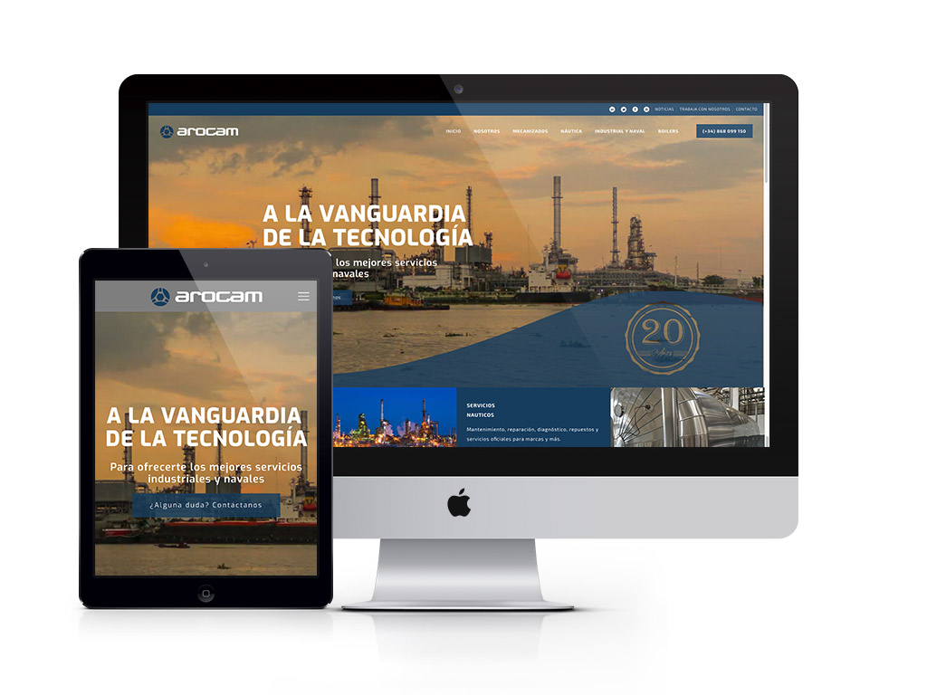 Diseño website Arocam