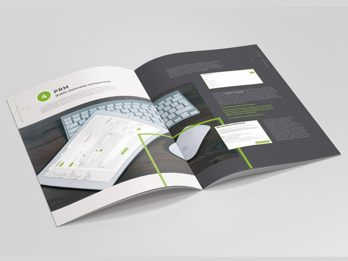diseño dossier catálogo servicios fuesen linkaffinity
