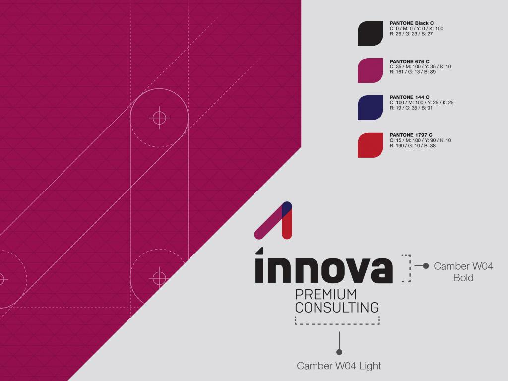diseño logotipo innova premium consulting