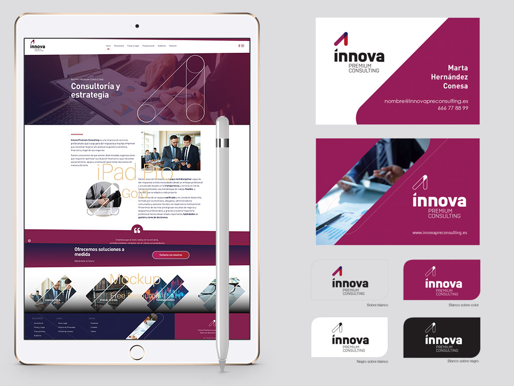 diseño imagen corporativa empresa consulting