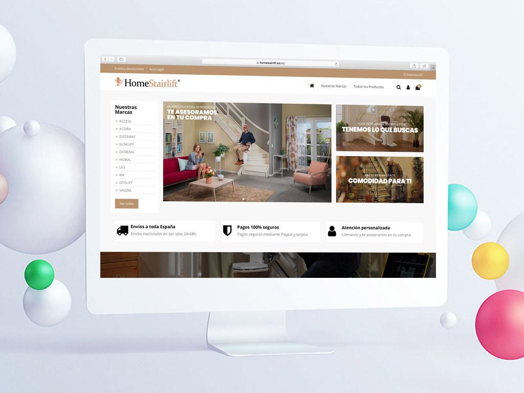 diseño tienda online repuestos