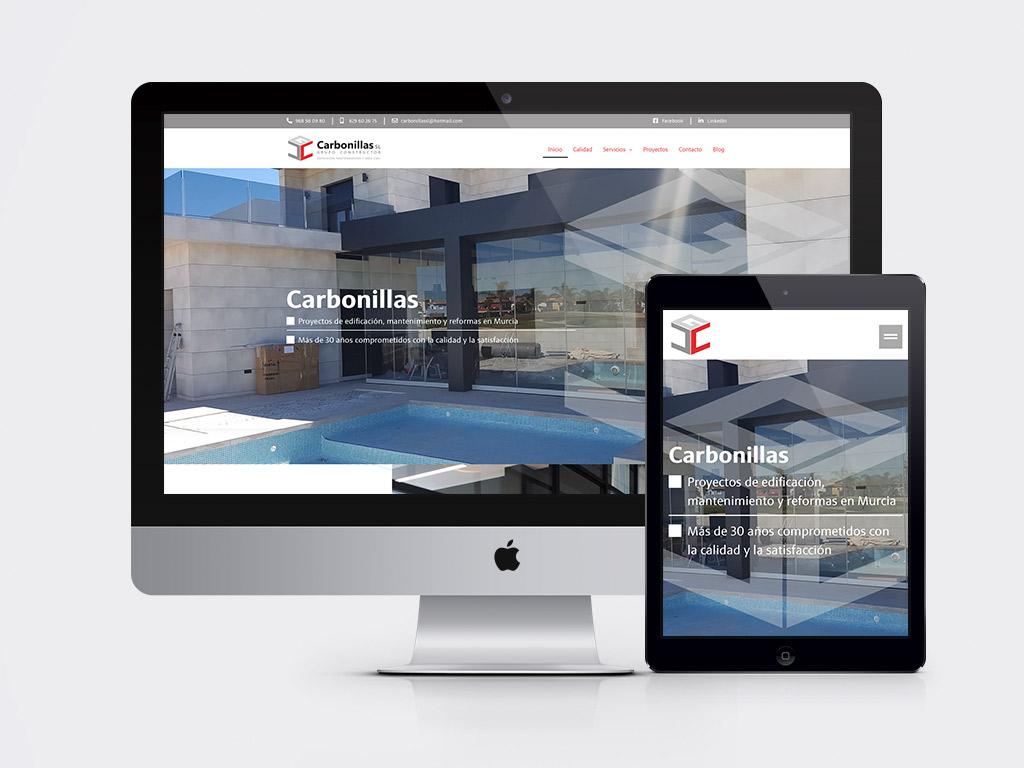 diseño página web Grupo Constructor Carbonillas